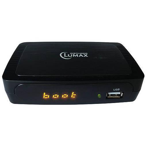 В продаже современный приемник цифрового ТВ LUMAX DVBT2-555HD фото