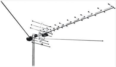 Антенна ТВ всеволновая L 025.09 МЕРИДИАН МВ/ДМВ с усилит на несколько ТВ в интернет магазине Импульс, фото