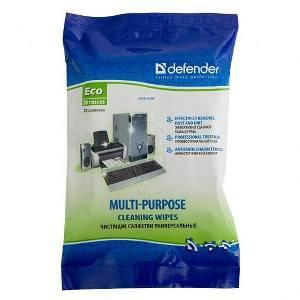 Влажные чистящие салфетки DEFENDER 30200 (20шт)универсальные  в мягкой упаковке