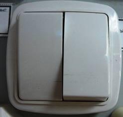 Выключатель двойной закр пр глянец С510-041 в интернет магазине Импульс, фото