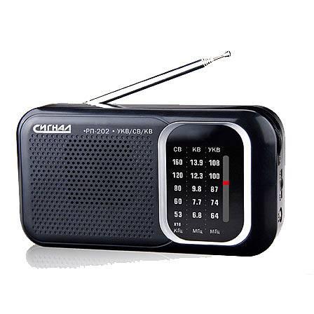 радиоприемник БЗРП РП/Сигнал РП-202  FM СВ КВ1-7 бат.2*R20 220V в интернет магазине Импульс, фото