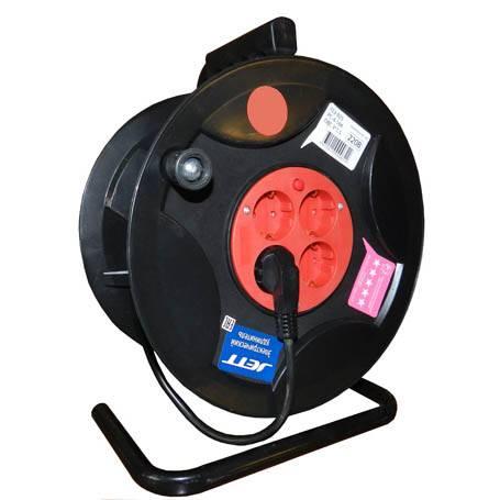 Удлинитель сетевой на барабане 40м 4вх с заземлением (ПВС 3*1,5) Джетт в интернет магазине Импульс, фото