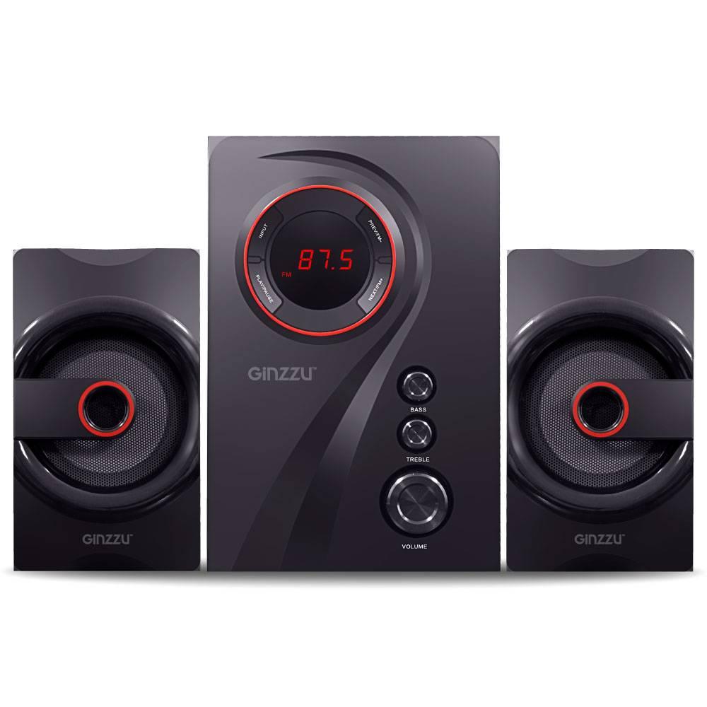колонка GINZZU GM-406B 2.1Bluetooth сабвуфер 40W/USB/SD//FM/ДУ в интернет магазине Импульс, фото