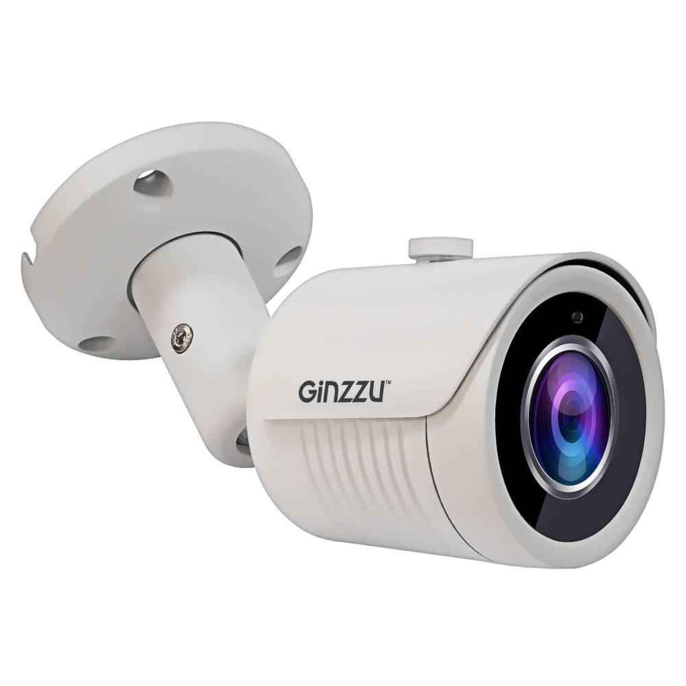 видеокамера GINZZU HIB-4031O IP4.0Mp OV4689, 3.6mm,пуля,IR 20м,IP66,мет в интернет магазине Импульс, фото