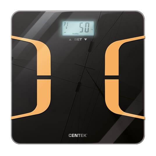 весы CENTEK CT-2431 SMART Фитнес электронные напольные-Индекс массы тела,до 180кг, LCD 65*28мм в интернет магазине Импульс, фото