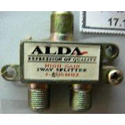 Разветвитель антенный 2TB ALDA метал с разъемами (5157)