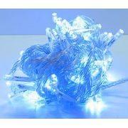 гирлянда 100 (50-100) светодиод (6мм) разноцветные прозрачные