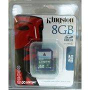 Память SD 8Gb KINGSTON класс 2/4