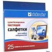 Салфетки Defender 120*150мм CLN30604(сухие безворс.) в интернет магазине Импульс, фото