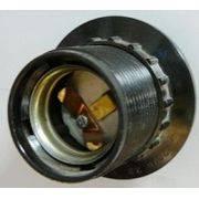 патрон для лампочки для люстр с прижимным кольцом(Е27)(пластик) в интернет магазине Импульс, фото