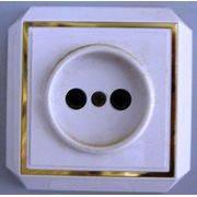 Розетка сетевая закр пр позол (173) в интернет магазине Импульс, фото