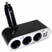 разветв прикур тройной WF-0100 +USB авто