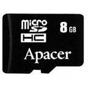 Память SD Micro 8Gb APACER класс 6/10 в интернет магазине Импульс, фото