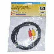 Шнур USB мини A 4P-3RCA 1.8m (3279) в интернет магазине Импульс, фото
