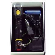 фонарь аккумуляторный 1 светод. 12000-15000W 192 H-T6 мощн.+З/У,с сирен в интернет магазине Импульс, фото