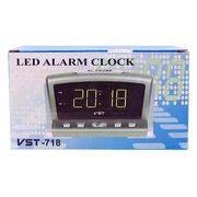 Часы-будильник JMT(VST)-718-2 сет. цифр. зелен. цифр крона в интернет магазине Импульс, фото
