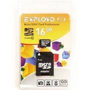 пам. SD Micro 16Gb Exployd кл.10 +SD adapter в интернет магазине Импульс, фото
