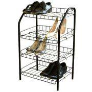 этажерка для обуви 4 узкая пол серебро разб. 700*465*300 ЭТ2