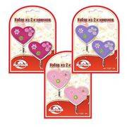 крючок Сердечки со стразами набор 2шт. 3цв. FD27-184 в интернет магазине Импульс, фото