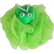 мочалка банная с игрушкой лягушка нейлон 5271 в интернет магазине Импульс, фото