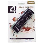 Разветвитель USB 4port с выключателем №401 в интернет магазине Импульс, фото