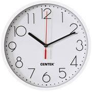 Часы CENTEK CT-7105 White(белый)/гжель d=23см настенные, шаг. ход, кварц в интернет магазине Импульс, фото