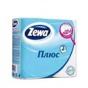 туалетная бумага ZEWA PLUS 2-х слойная Белая (4шт)