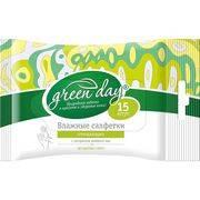салфетки влажные GreenDay универсальные (в ассортименте) 15шт в интернет магазине Импульс, фото