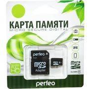 Память SD Micro 32Gb PERFEO (+adapter) класс 10 в интернет магазине Импульс, фото