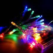 гирлянда 30 светодиодиодов рисовая SE-RICE-320M 3м мультицвет, прозр шнур в интернет магазине Импульс, фото