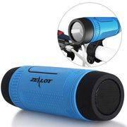 колонка S-1 ZEALOT microSD, FM, портативная, водонепроницаемая+резервный акк.+фонарь+держатель на руль велосипеда в интернет магазине Импульс, фото