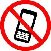 знак запрещающий Использование мобильных телефонов запрещено 150*150мм REXANT 56-0042 в интернет магазине Импульс, фото