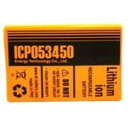 аккумулятор промышленный ET ICP 053450F-PCM (1100mAh,Li-Ion)