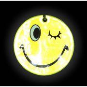 брелок светоотражающая Смайлик-флирт (подмигивает) 5см желтый в интернет магазине Импульс, фото