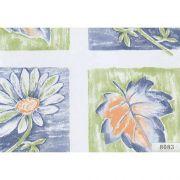 пленка самоклеющаяся 45см/8м цветы и листья сине-зеленые 8083 в интернет магазине Импульс, фото