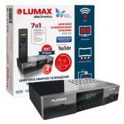 Ресивер цифрового эфирного ТВLUMAX DV3211HDдиспл.,7кноп.,Dolby,FullHD,2USB,WI FI метал корпус HDMI в интернет магазине Импульс, фото