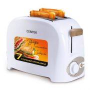 Тостер CENTEK CT-1420 750Вт нерж. 2 тоста, 7уровней мощности в интернет магазине Импульс, фото