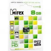 Память SD micro 8Gb MIREX класс 10 в интернет магазине Импульс, фото