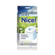 туалетная бумага АУРА NICE с ромашкой влажная 20шт в интернет магазине Импульс, фото