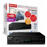Ресивер цифров эфирного ТВ D-Color DC1802HD DVB-T2 AC3 WiFi антенна в компл металлический корпус дисплей в интернет магазине Импульс, фото