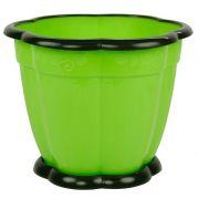 горшок цв. Восторг 1,5л с поддоном (зелен) М1218 в интернет магазине Импульс, фото