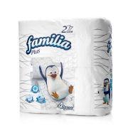 туалетная бумага FAMILIA PLUS  2-х слойная Белая (4шт) в интернет магазине Импульс, фото