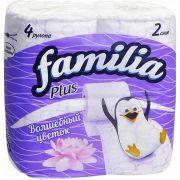туалетная бумага FAMILA PLUS  2-х слойная Вол.цветок (4шт) в интернет магазине Импульс, фото