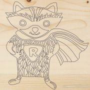 доска для выжигания Супергерой Енот REXANT 12-0904 в интернет магазине Импульс, фото