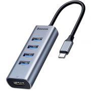 разветвитель USB3.0 Baseus Enjoy, USB 4port, HDMI, Type-c в интернет магазине Импульс, фото