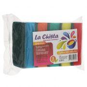 губка для посуды LA CHISTA Супер Макси 5шт 870478 в интернет магазине Импульс, фото