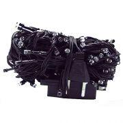 гирлянда 100 (50-100) светодиод (6мм) разноцветн черн.шнур в интернет магазине Импульс, фото
