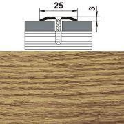профиль стыкоперекрывающий ПС 01.1800.084 25мм,дуб универсал (1339) в интернет магазине Импульс, фото