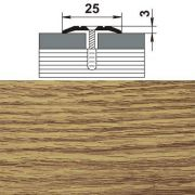 профиль стыкоперекрывающий ПС 01.900.084 25мм,дуб универсал (1352) в интернет магазине Импульс, фото