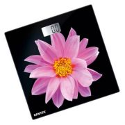 весы CENTEK CT-2416 Pink Flower электронные напольные, до 180кг, LCD 45х28мм,26*26см в интернет магазине Импульс, фото